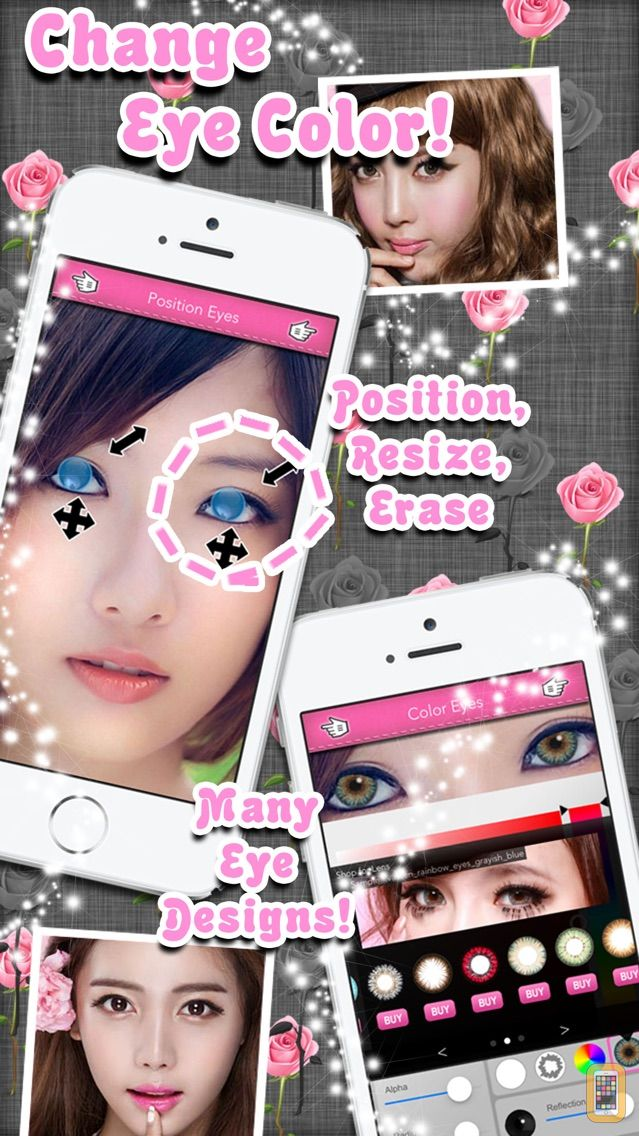 Screenshot - Eye Colorizer - Beautiful Colored Contact Lens With Sharingan, Vampire, Halloween And Other Photo Effects