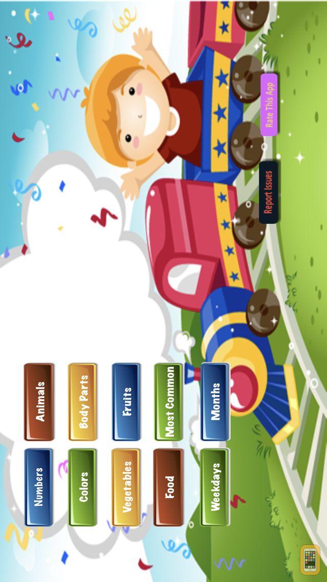Screenshot - Come Learn Spellings - Free - 150 spelling words for preschool, kindergarten, 1st and 2nd grade kids to learn