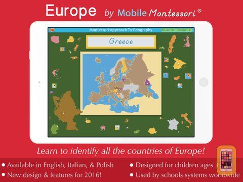 Screenshot - Europe - A Montessori Approach To Geography