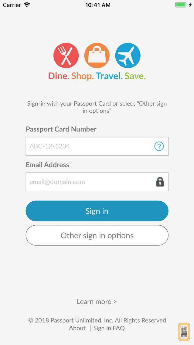 Screenshot - Passport Mobile