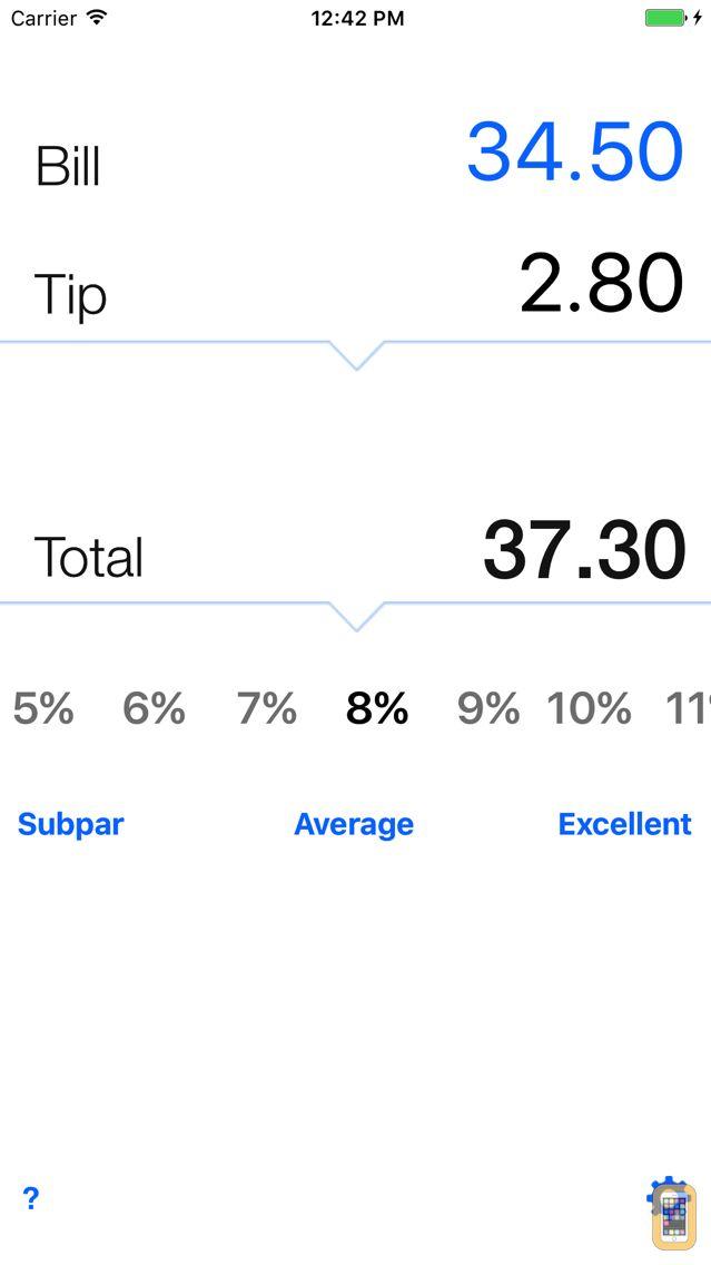 Screenshot - Tip calculator 'Tipping made easy'