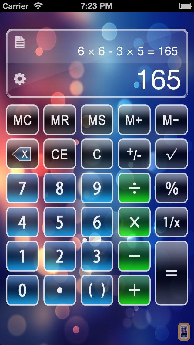 Screenshot - Calculator X Free - Advanced Scientific Calculator with Formula Display & Notable Tape