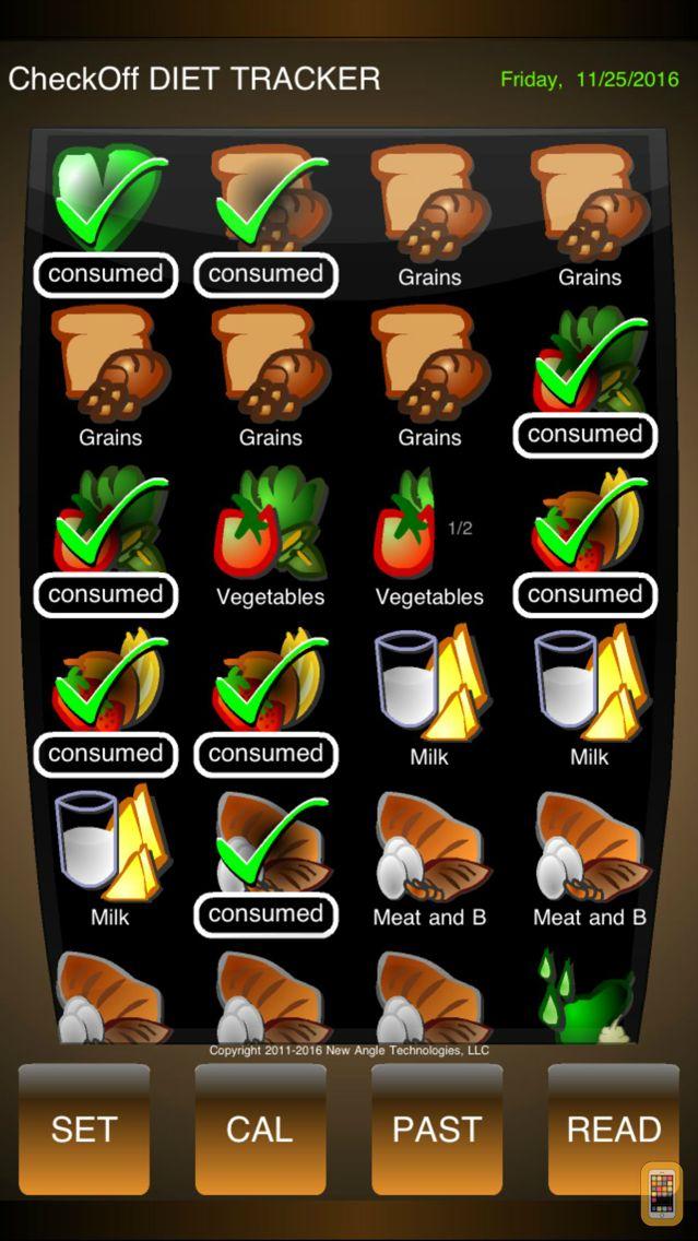 Screenshot - CheckOff Diet Tracker