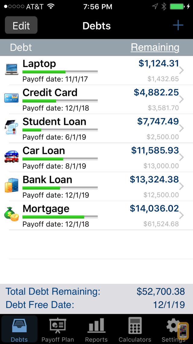 Screenshot - Debt Payoff Pro