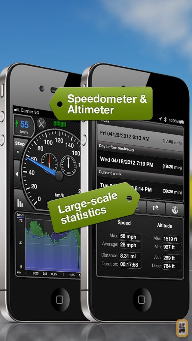 Screenshot - GPSSpeed HD, the GPS tool with speedo, altimeter