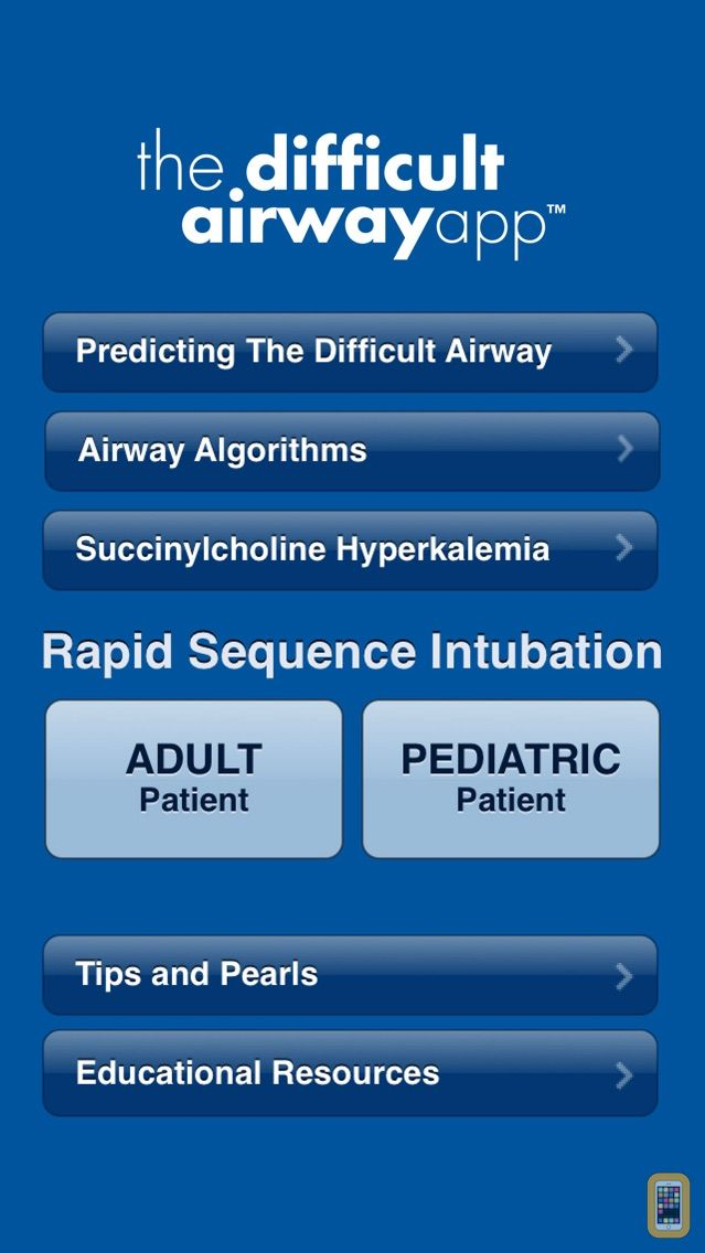 Screenshot - The Difficult Airway App