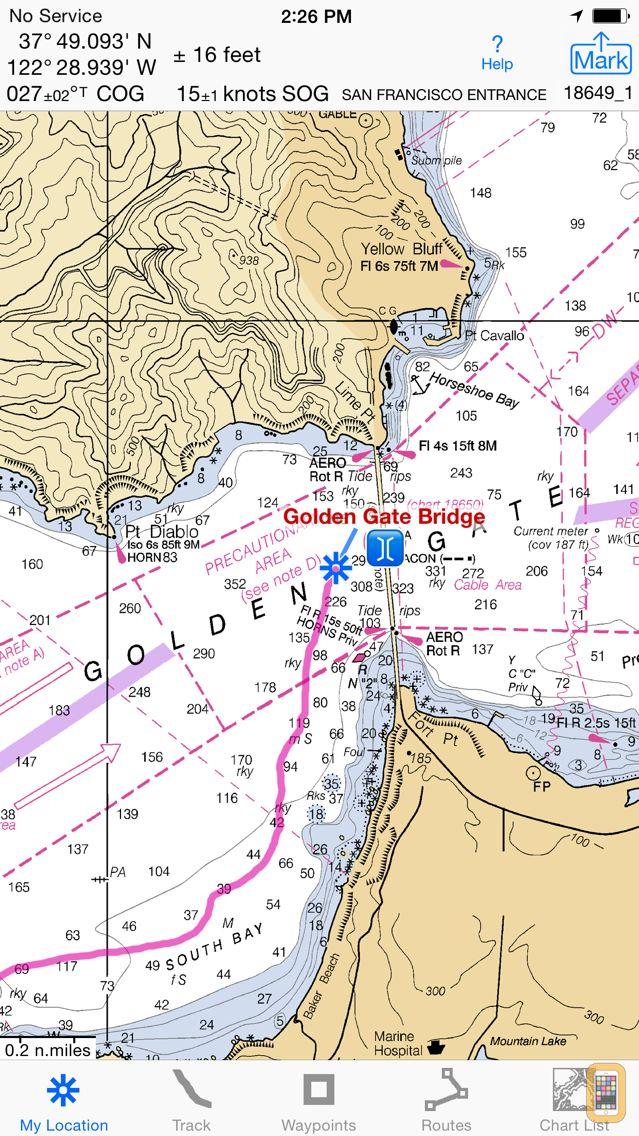 Screenshot - i Sail GPS : NOAA USA Charts