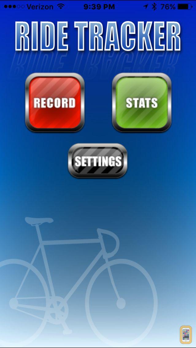 Screenshot - Bike Ride Tracker - GPS Bicycle Computer
