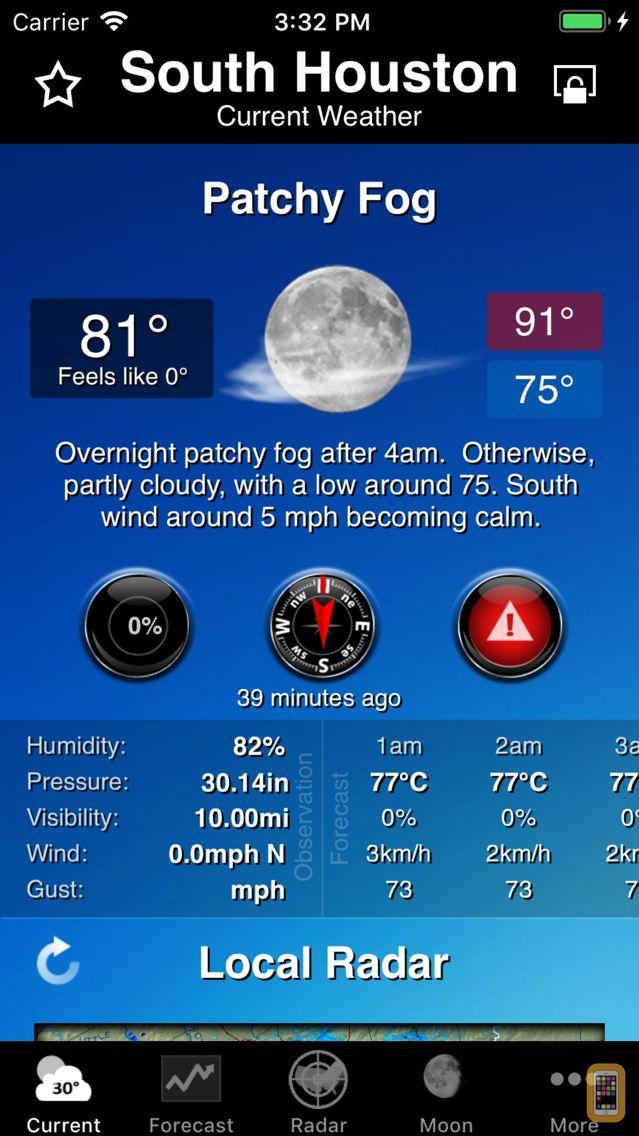 Screenshot - NOAA Weather