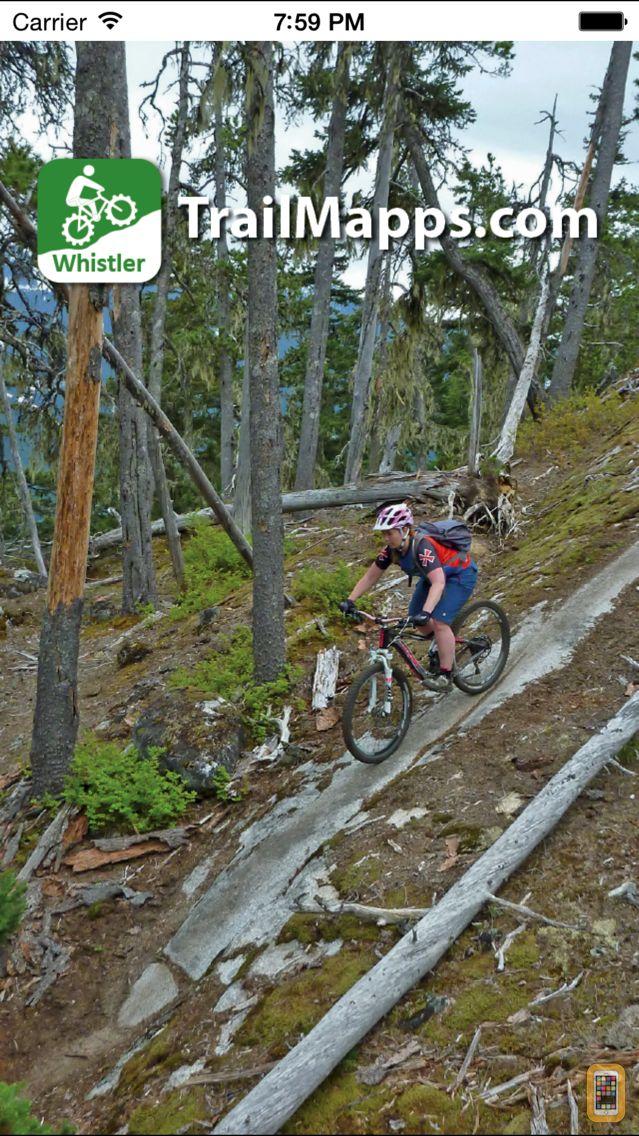 Screenshot - TrailMapps: Whistler