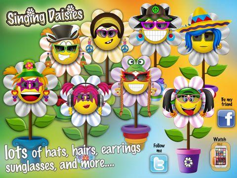 Screenshot - Singing Daisies - a dress up & make up games for kids