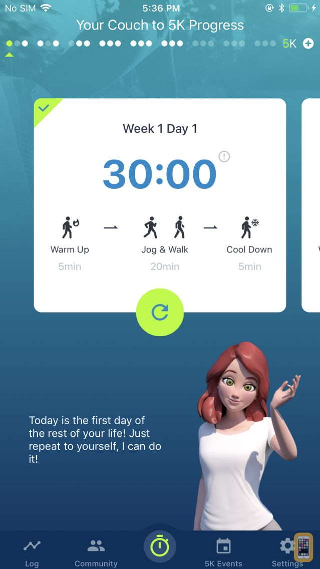 Screenshot - Couch to 5K® - Run training