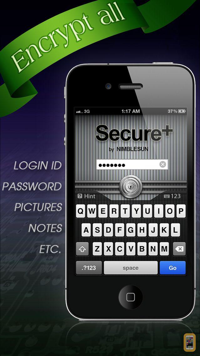 Screenshot - Secure+ password manager