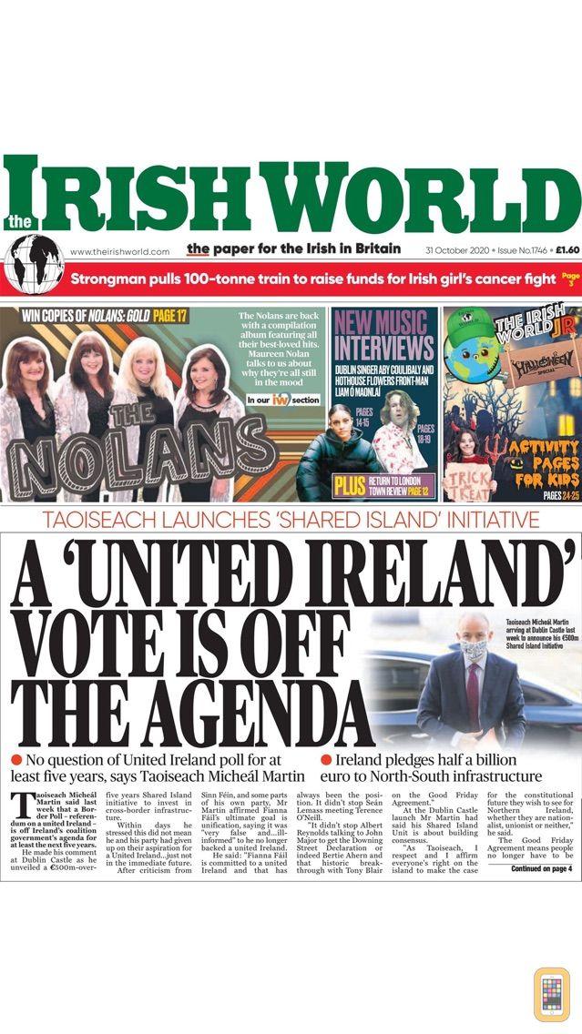 Screenshot - Irish World Newspaper