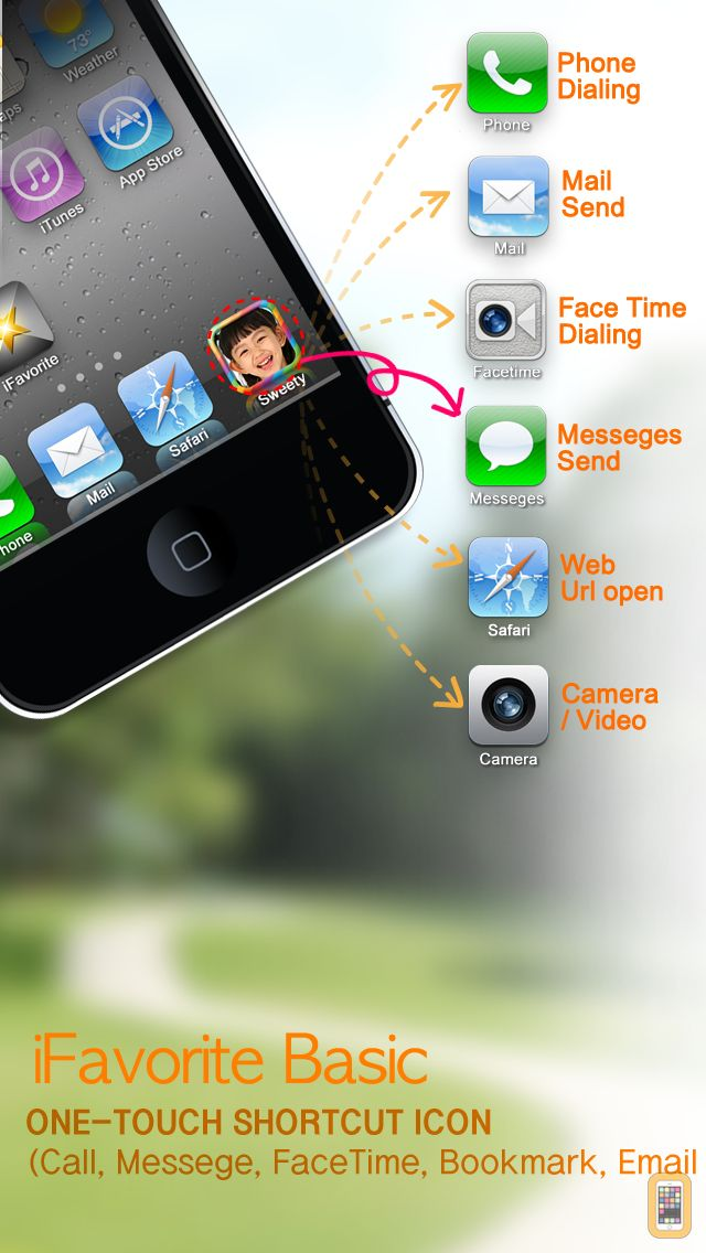 Screenshot - Contact shortcut photo icon ( iFavorite ) for Home screen
