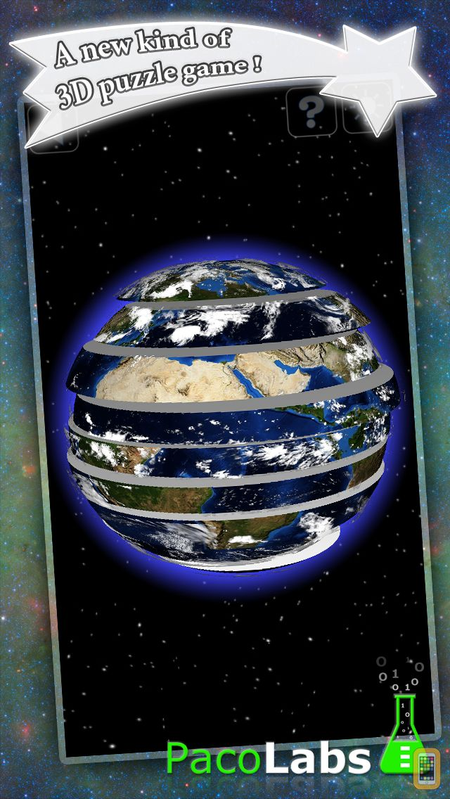 Screenshot - Earth Puzzle - a spherical puzzle game in 3D