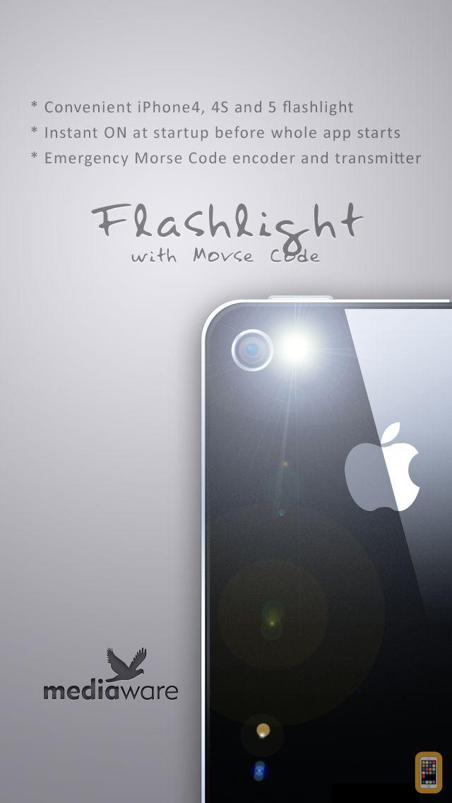 Screenshot - Flashlight+ Morse Code - Transmitter and encoder