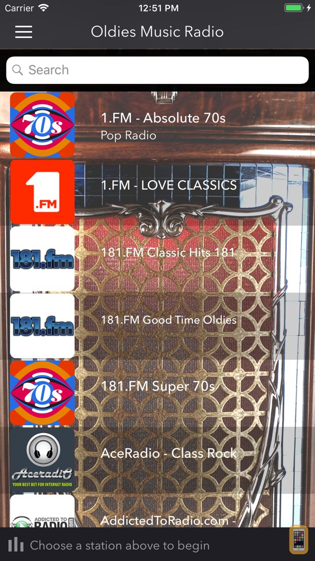 Screenshot - Oldies Music Radio