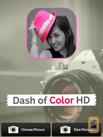 Screenshot - Dash of Color HD - Black & White, Colorful Photo Editor with Grayscale Effects