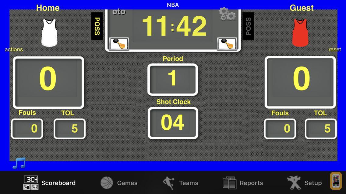Screenshot - Ballers Basketball Scoreboard