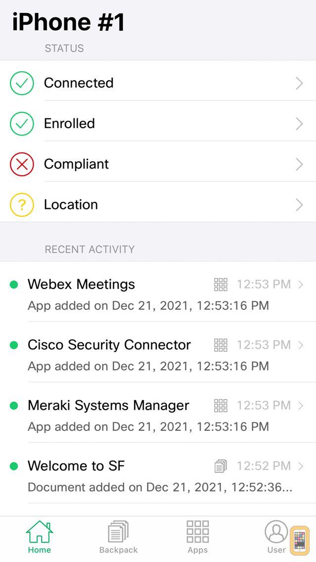 Screenshot - Meraki Systems Manager