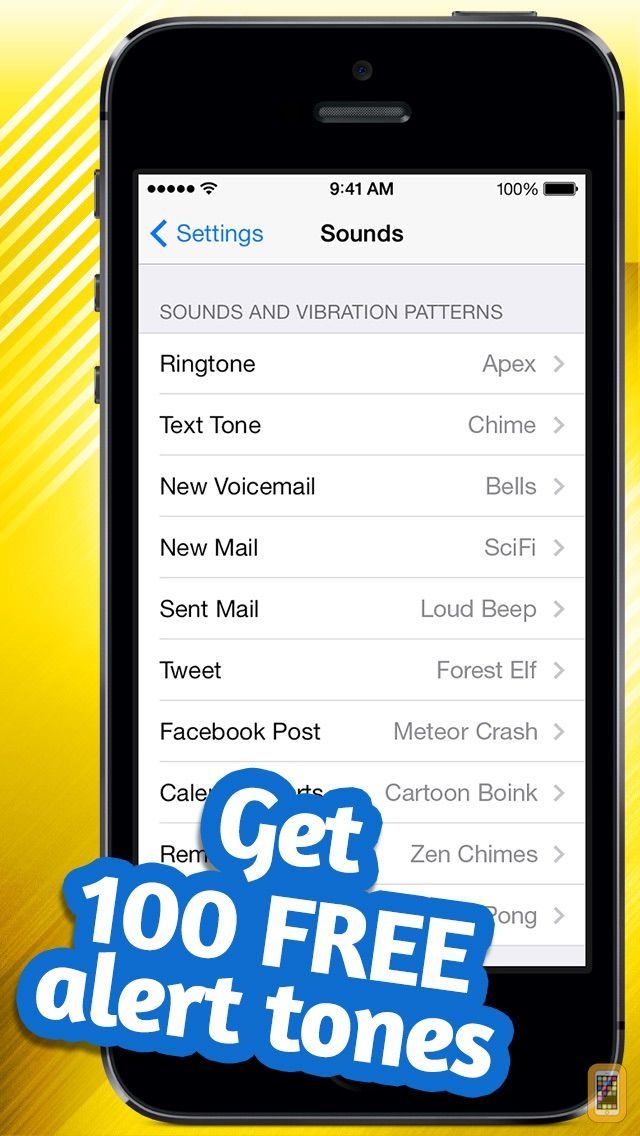 Screenshot - Free Alert Tones - Customize your new voicemail, email, text & more alerts