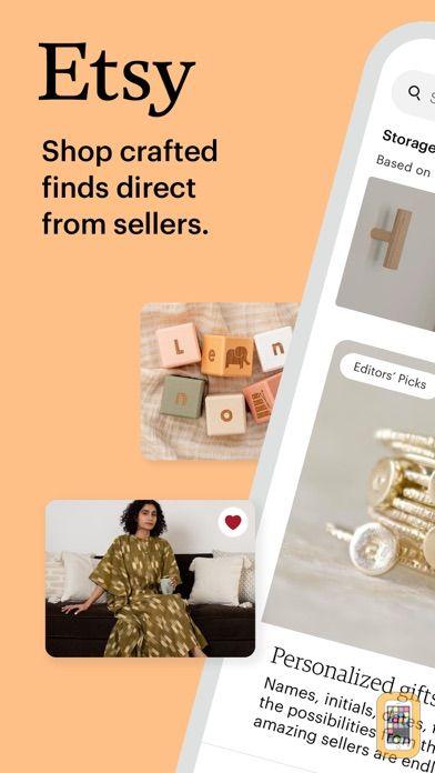Screenshot - Etsy: Custom & Creative Goods