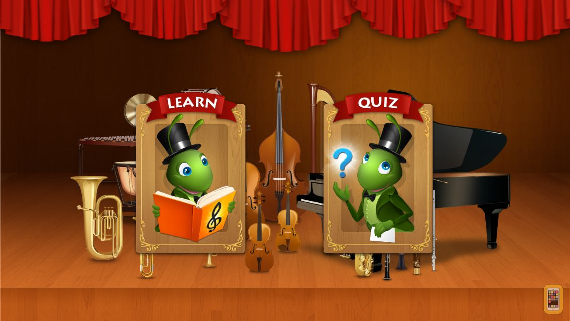 Screenshot - Meet the Orchestra - learn classical music instruments