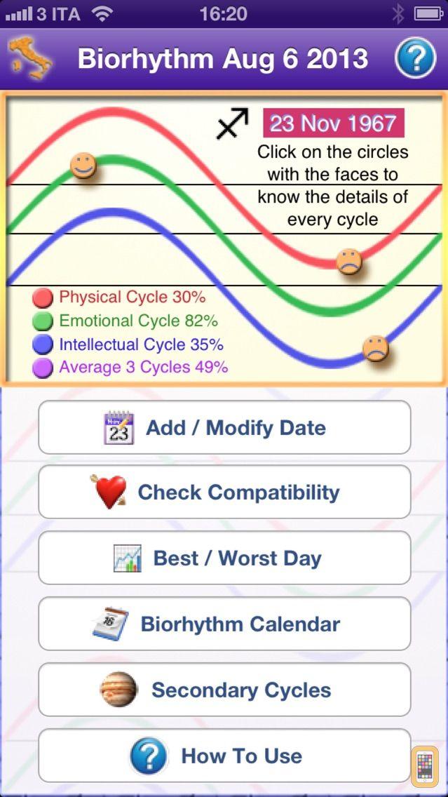Screenshot - Biorhythm Pro - measure the rhythm of your life