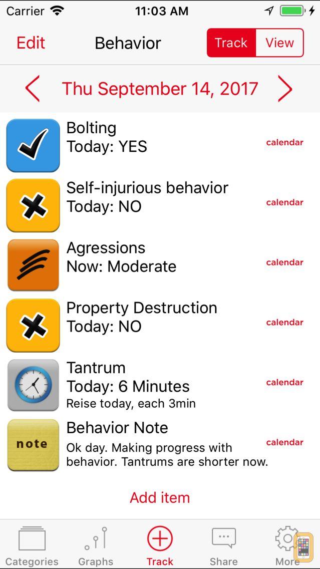 Screenshot - Autism Tracker Pro