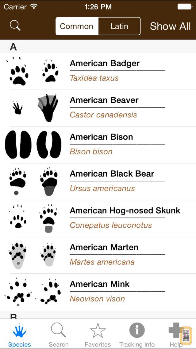 Screenshot - iTrack Wildlife