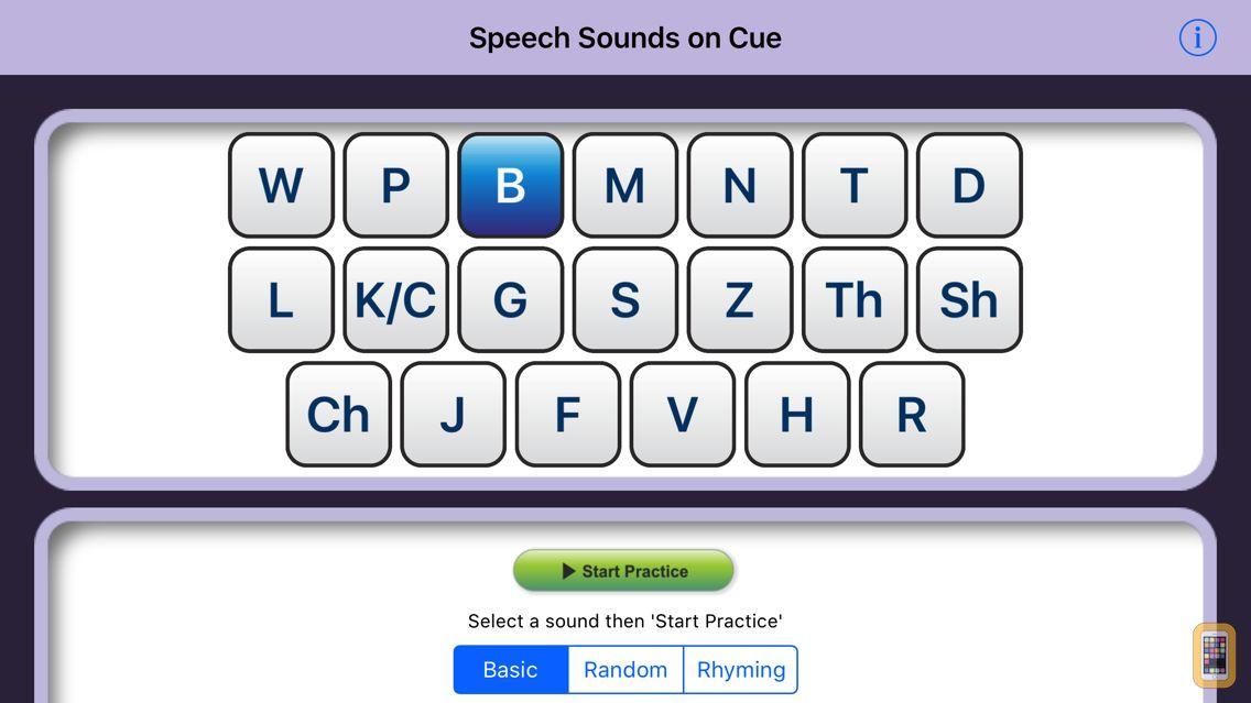 Screenshot - Speech Sounds on Cue (US Eng)