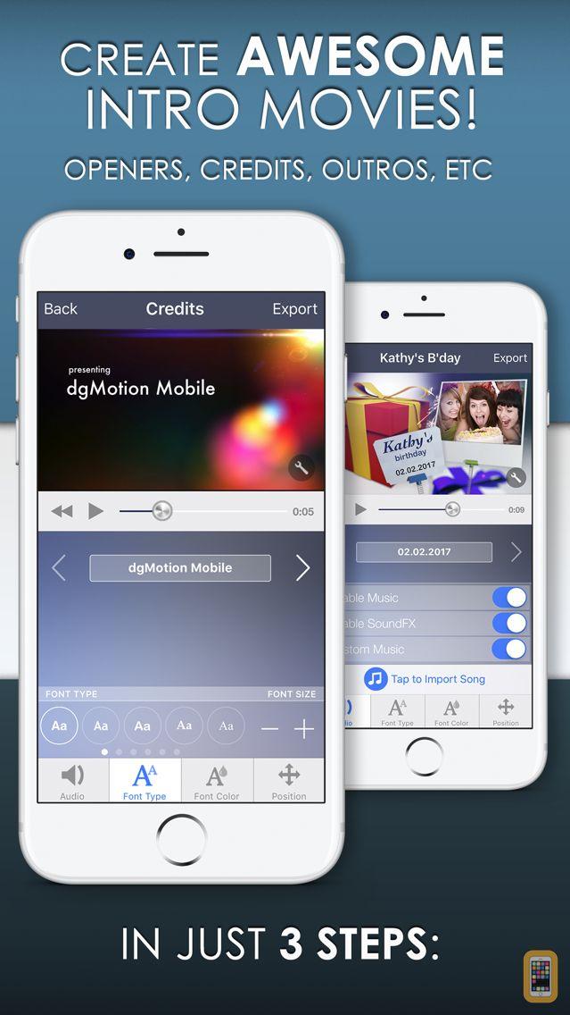 Screenshot - Intro Designer Lite - Create Intros for iMovie
