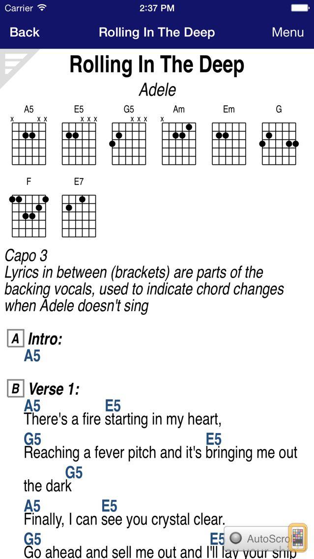 Screenshot - GuitarTapp PRO - Tabs & Chords