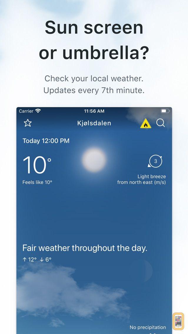 Screenshot - Yr.no