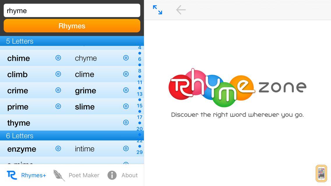 Screenshot - RhymeZone