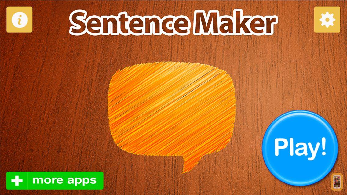 Screenshot - Sentence Maker