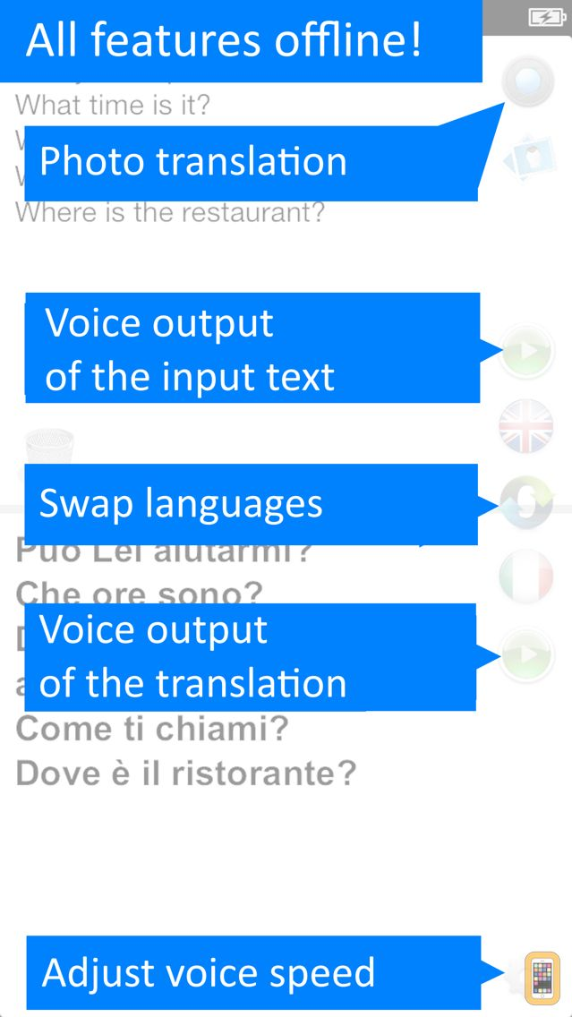 Screenshot - Translate Offline: Italian Pro