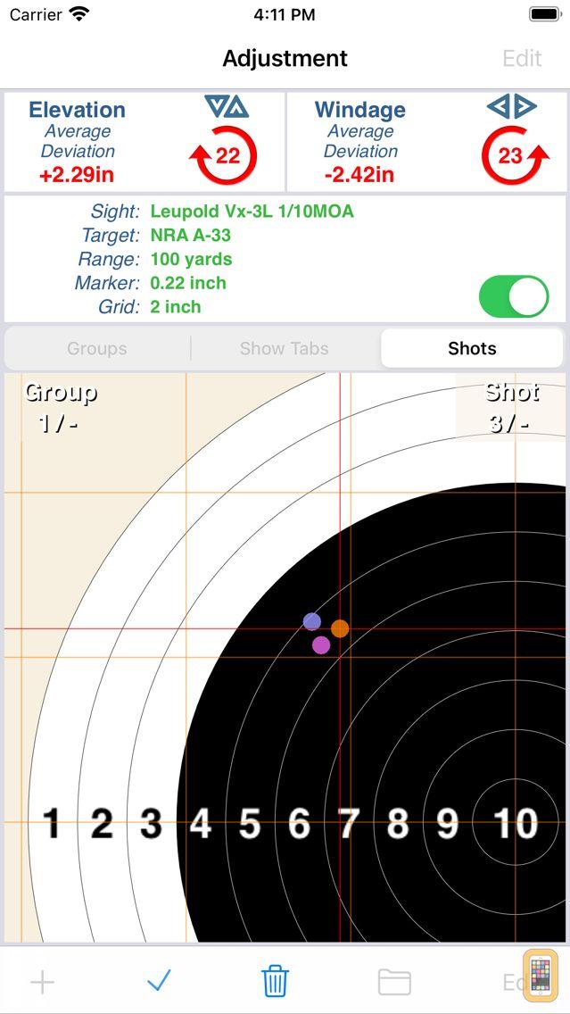 Screenshot - Shootility SightSet