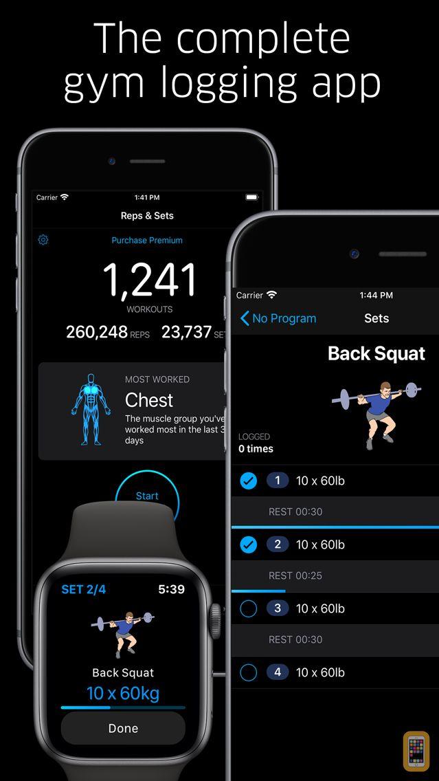 Screenshot - Reps & Sets - gym logging