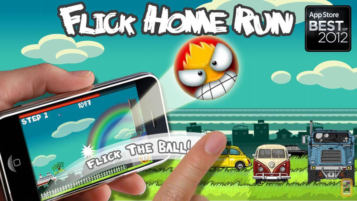 Screenshot - Flick Home Run ! Free Version