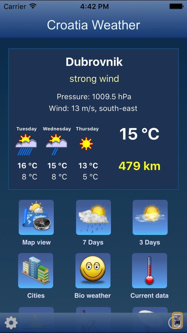 Screenshot - Croatia Weather