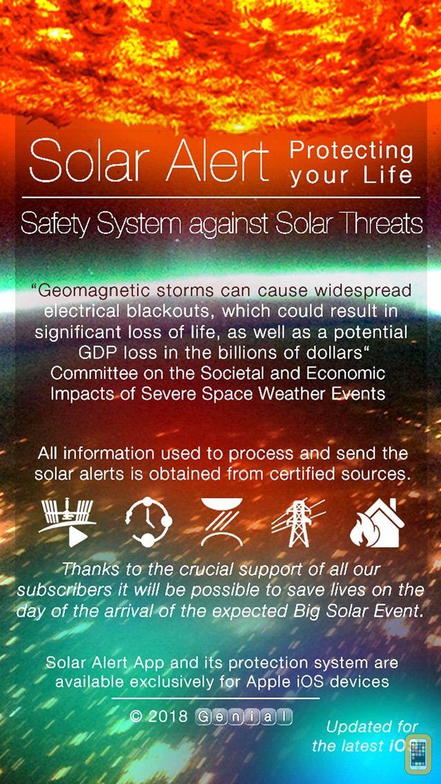 Screenshot - Solar Alert: Protect your Life