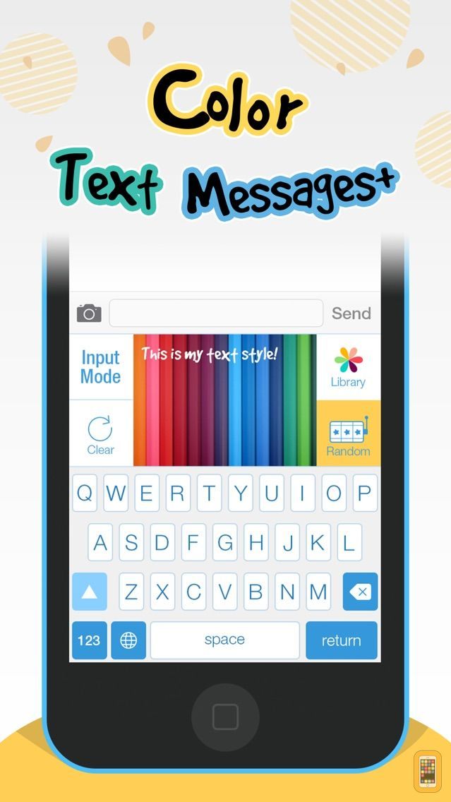 Screenshot - Color Text Messages+ Customize Keyboard Free Now