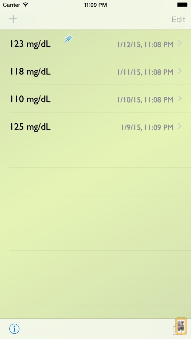 Screenshot - Glucose Recorder