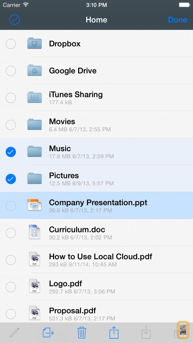 Screenshot - File Storage – The only file manager you need