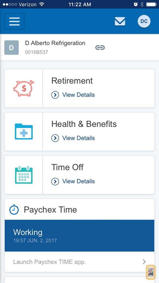 Screenshot - Paychex Flex