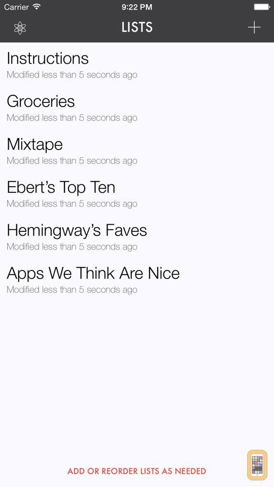 Screenshot - Ita — A List-Making App