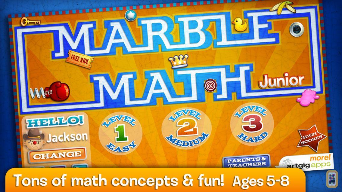 Screenshot - Marble Math Junior