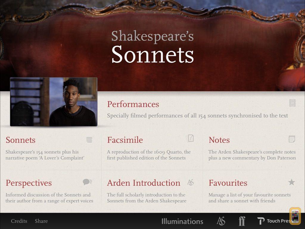 Screenshot - Shakespeare's Sonnets